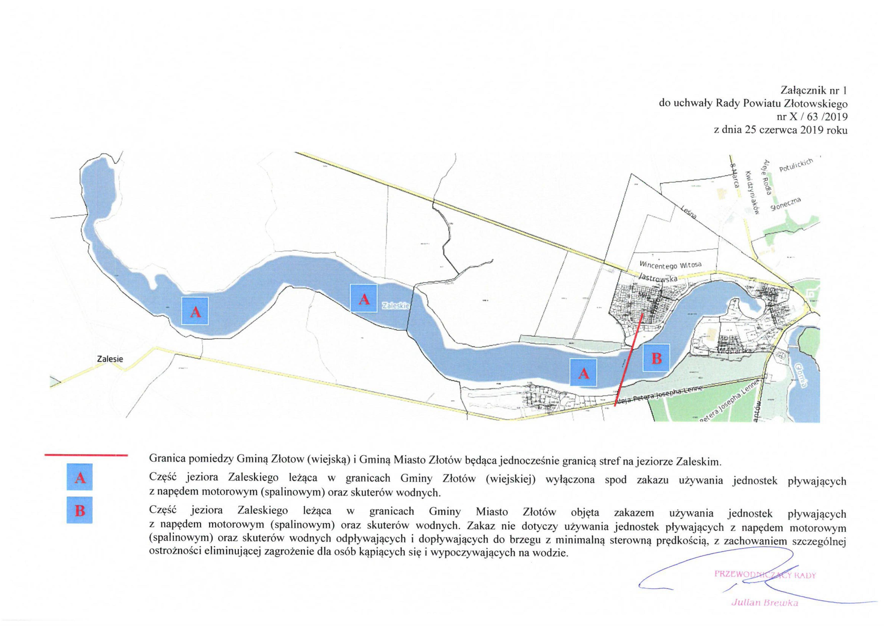 Mapa z uchwały
